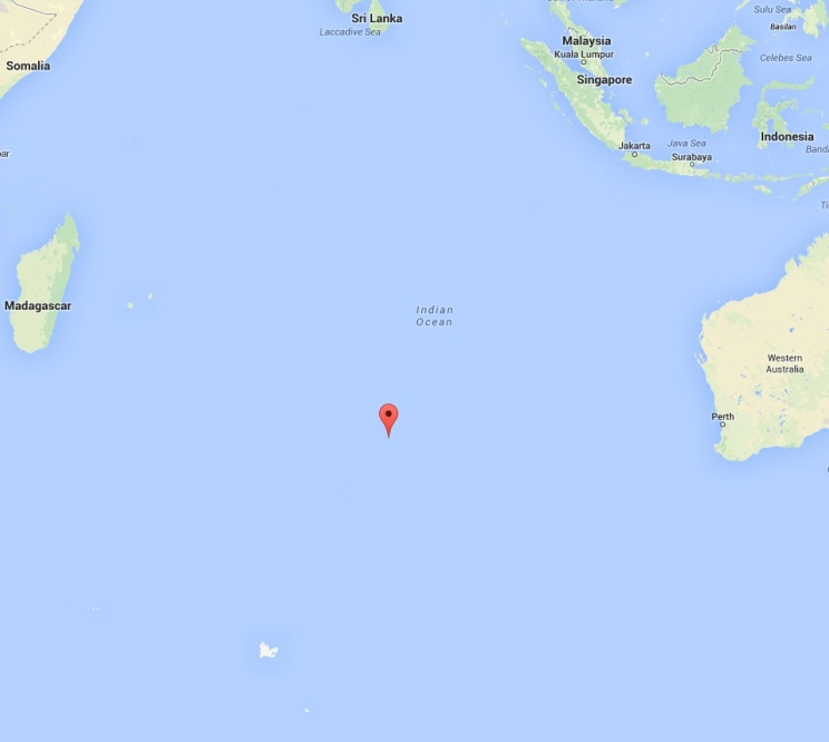 MH 370 in southern Indian Ocean