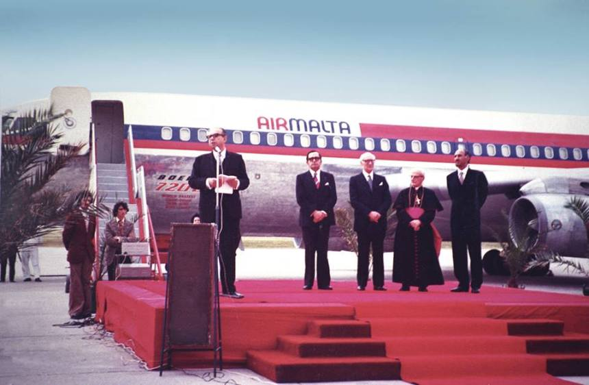 Air Malta 4.1.74 Inaugural Flight (Air Malta)(LR)