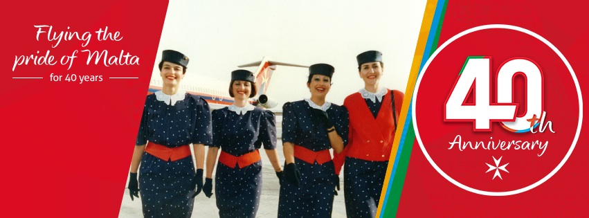 Air Malta 40th Anniversary banner
