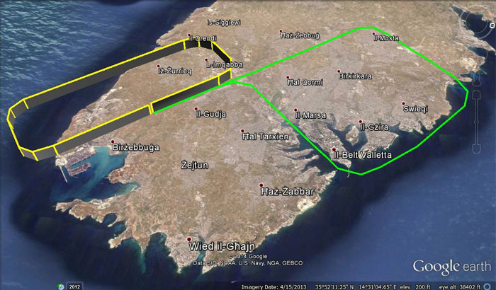 Air Malta 9H-AEI Flight Path (Air Malta)(LR)