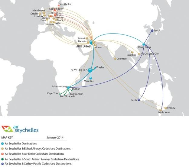 Air Seychelles 4.2014 Route Map