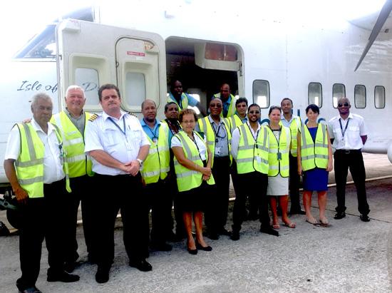 Air Seychelles SD3-60 and crew (Air Seychelles)(LR)