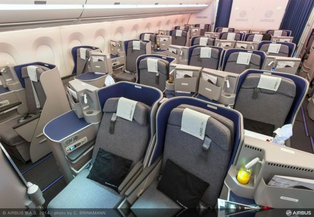 Airbus A350-900 Business Class seat (Airbus)(LR)