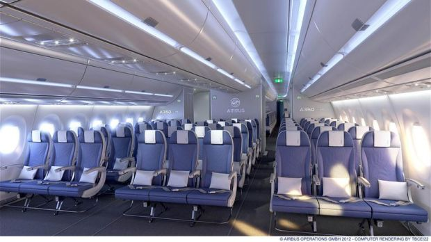 Airbus A350-900 Economy Class cabin (Airbus)(LR)