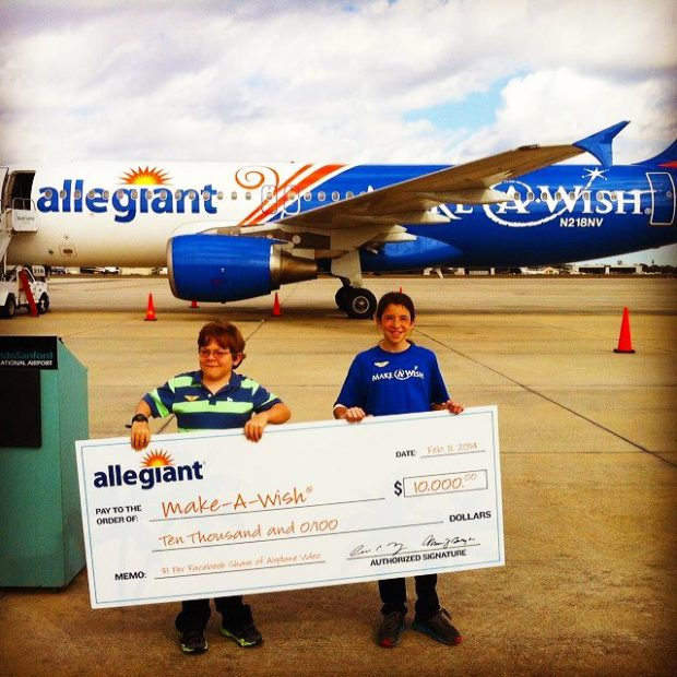 Allegiant A320-200 N218NV (13-Make-A-Wish)(Check) SFB (Allegiant)(LR)
