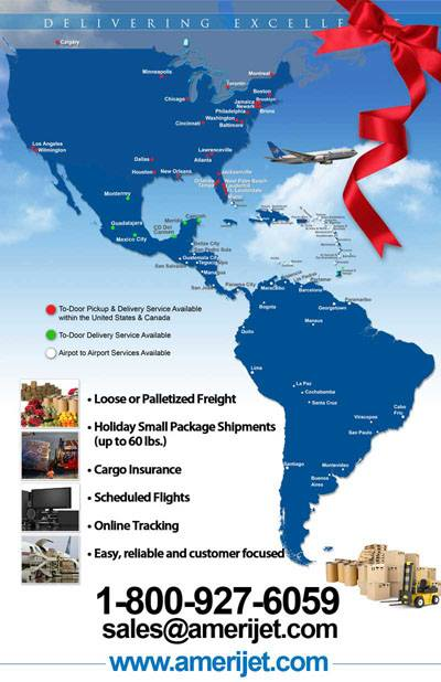 AmeriJet Service Area Map