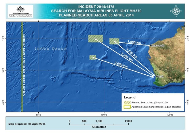 AMSA MH 370 4.5.14 Search Map