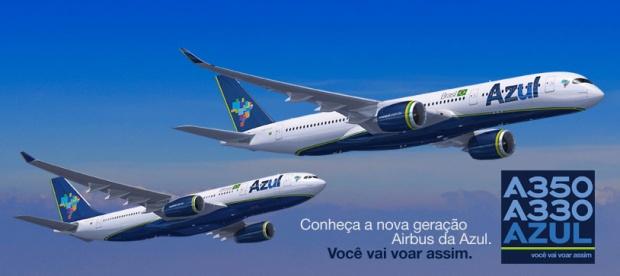 Azul A330-200 and A350-900 (Azul)(LR)
