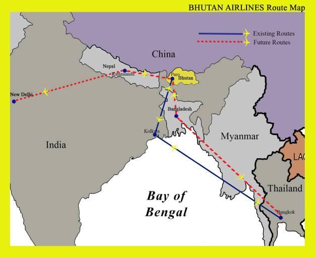 Bhutan 4:2014 Route Map