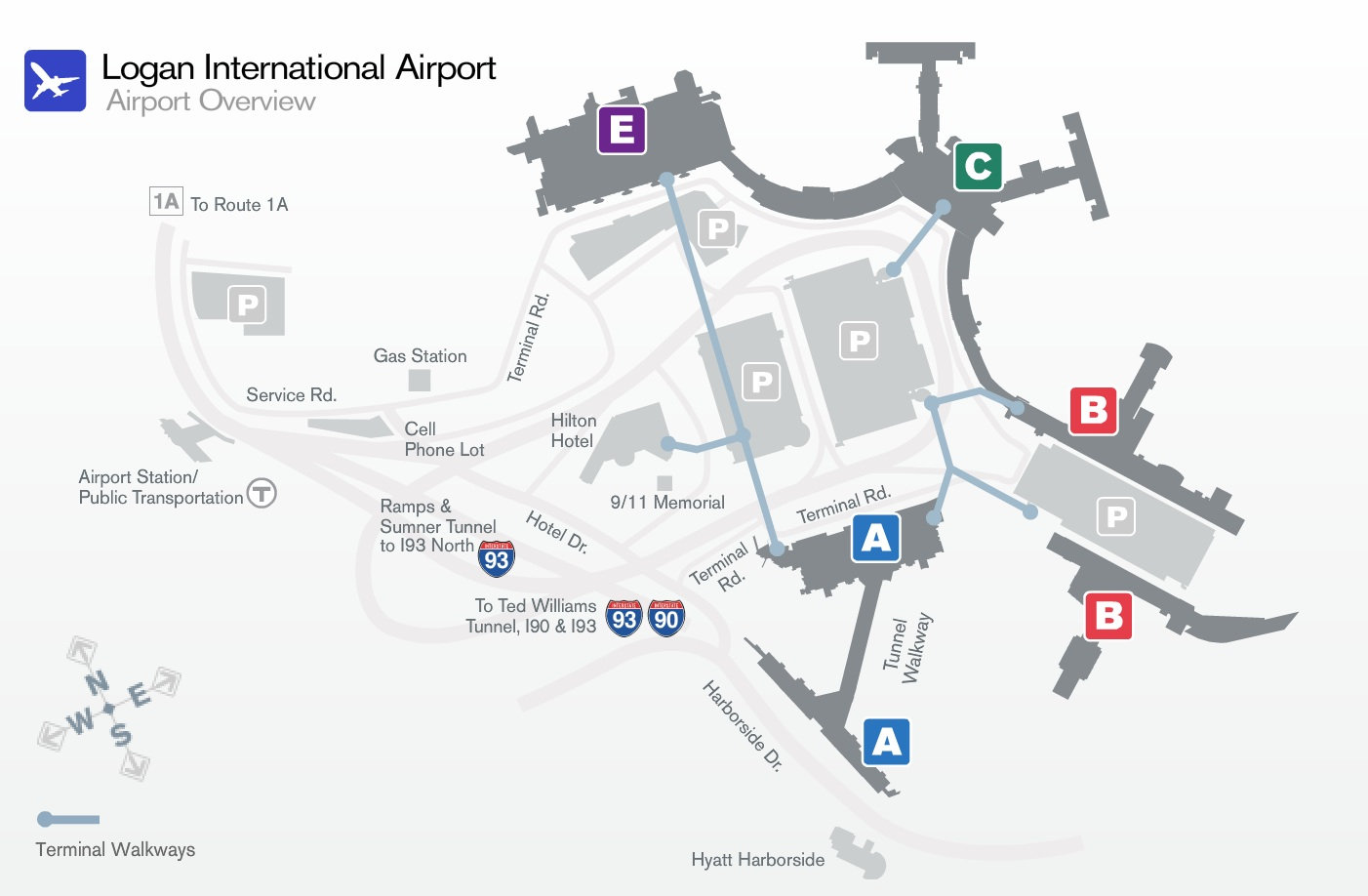 bos airport terminal map Massport World Airline News bos airport terminal map