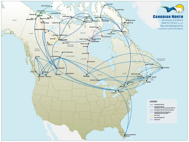 Canadian North 4.2014 Route Map