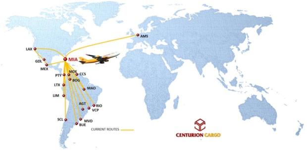Centurion Cargo 4:2014 Route Map