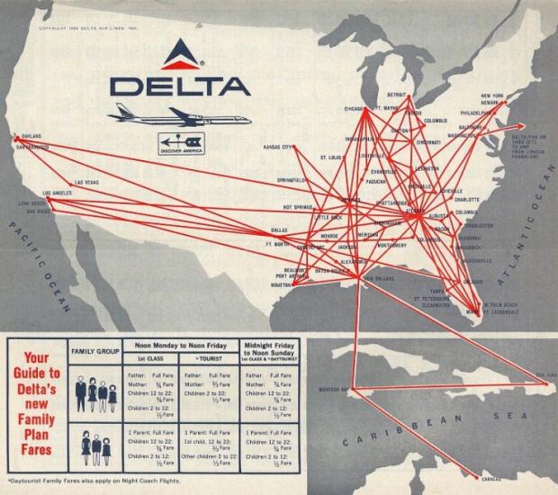 Delta 1966 Route Map