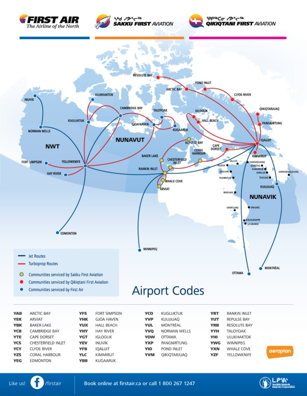 First Air 4.2014 Route Map