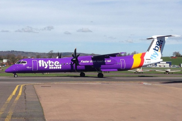 Flybe DHC-8-400 G-JECY (14)(Grd) EMA (Flybe)(LR)