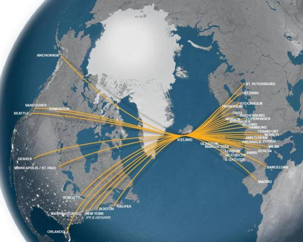 Icelandair 4.2014 Route Map