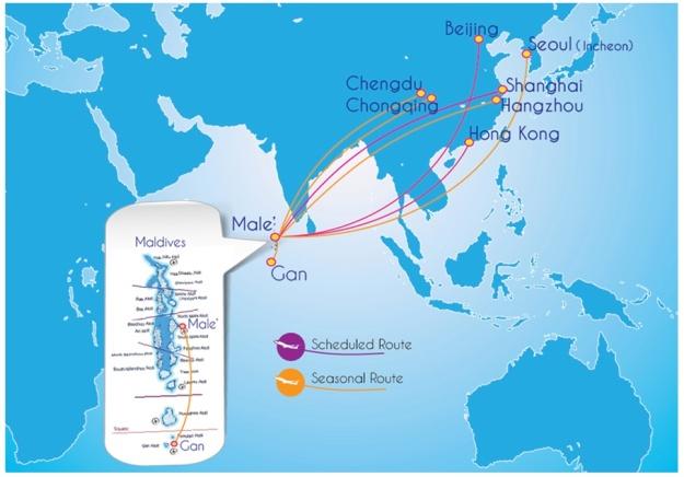 Mega Maldives 4.2014 Route Map