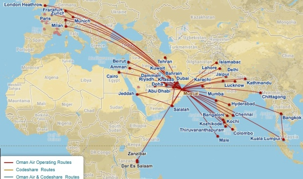 Oman Air 4.2014 Route Map (Oman Air)