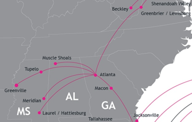 Silver Airways ATL 4.2014 Route Map