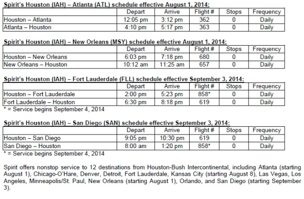 Spirit IAH 8.1.14 New Schedules