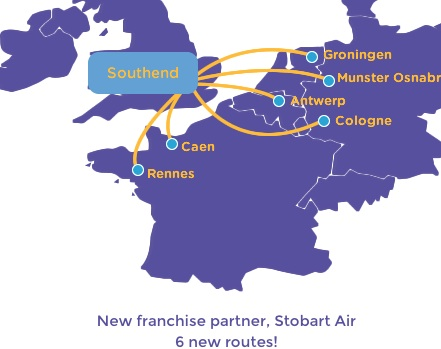 Stobart Air-Flybe 6 routes from SEN