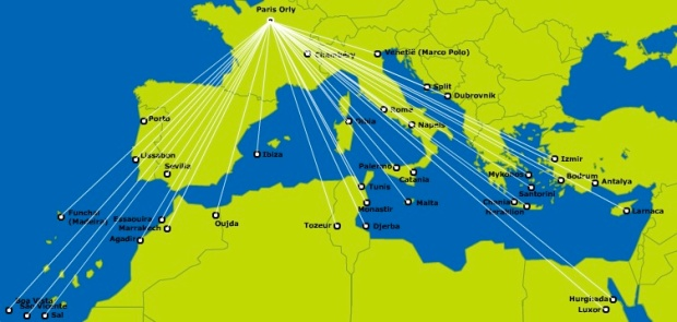 Transavia France ORY 4.2014 Route Map