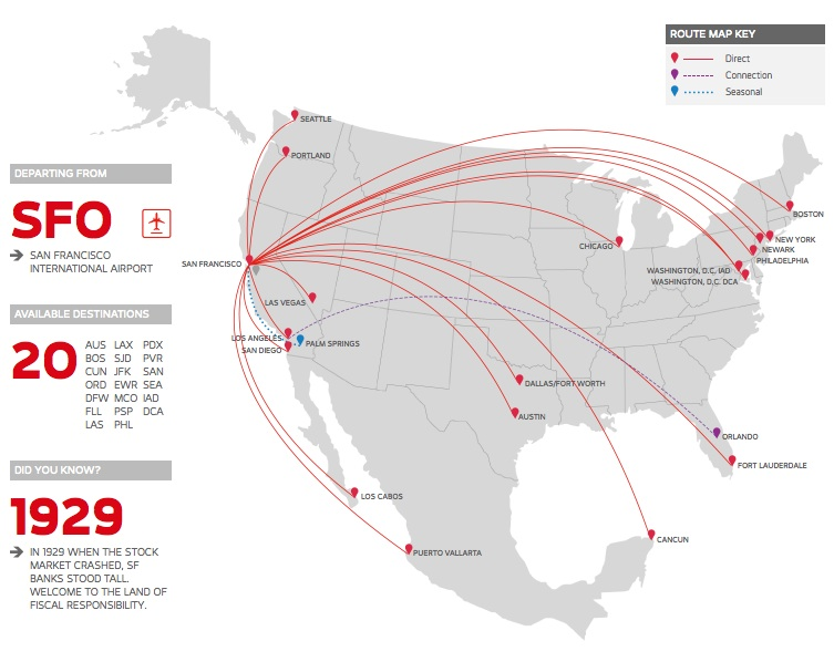 Virgin America 4.2014 Route Map