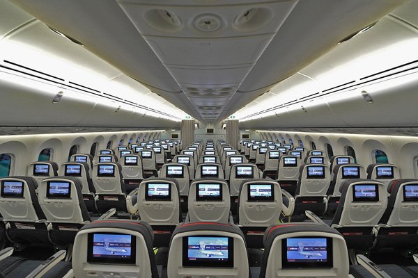 Air canada today unveils its new boeing 787 cabins world for Interior 787 air europa