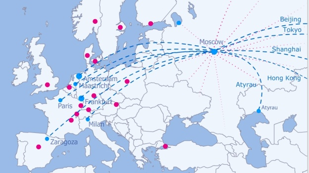 AirBridgeCargo 5.2014 European Route Map