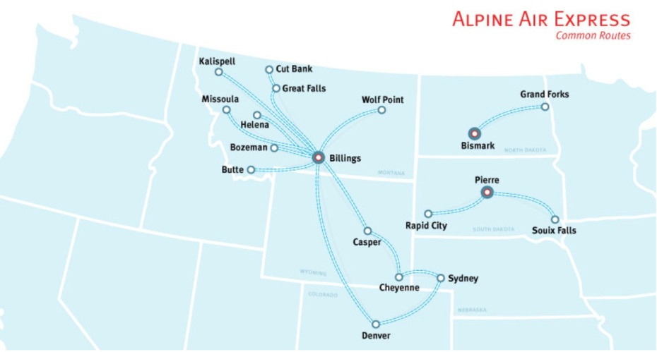 Alpine Air Express is sold by Gene Mallette to KEB Enterprises ...