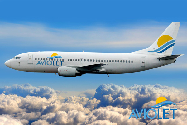 Aviolet 737-300 and logo (Aviolet)(LRW)