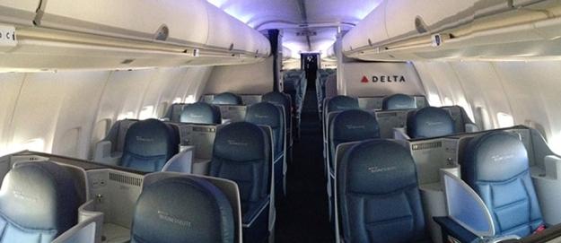 Delta 757-200 trans-con Business Cabin (Delta)(LR)