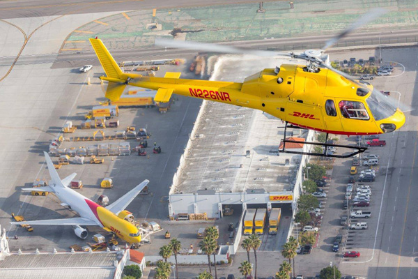 DHL Eurocopter AS355 N226NR (Flt) LAX (DHL)(LRW)