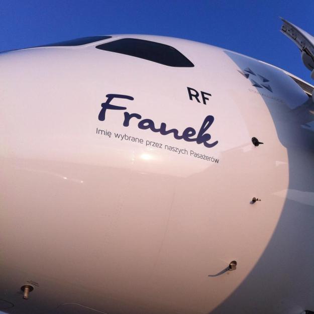 LOT Polish 787-8 SP-LRF (11)(Nose) %22Franek%22 (LT)(LR)