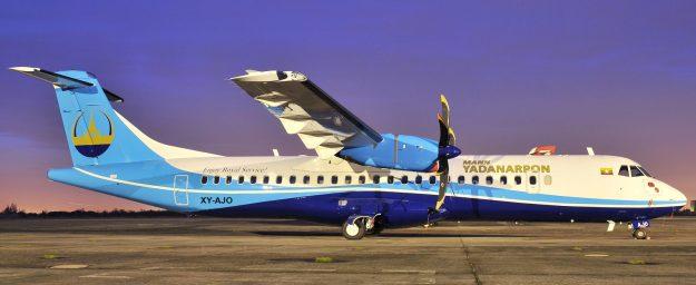 Mann Yadanarpon ATR 72-600 XY-AJO (14)(Grd)(Mann Yadanarpon)(HR)