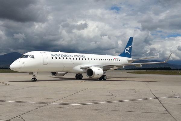 Montenegro ERJ 190-100LR 4O-AOD (97)(Grd) TGD (Montenegro)(LRW)