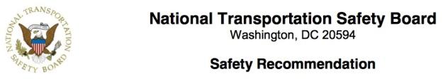 NTSB Safety Recommendation logo