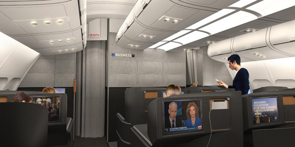 Scandinavian-SAS Business Class cabin (SAS)(LRW)