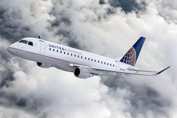 United Airlines And Skywest Airlines Introduce The Embraer