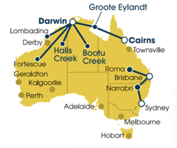 Vincent Aviation (Australia) 5.2014 Route Map