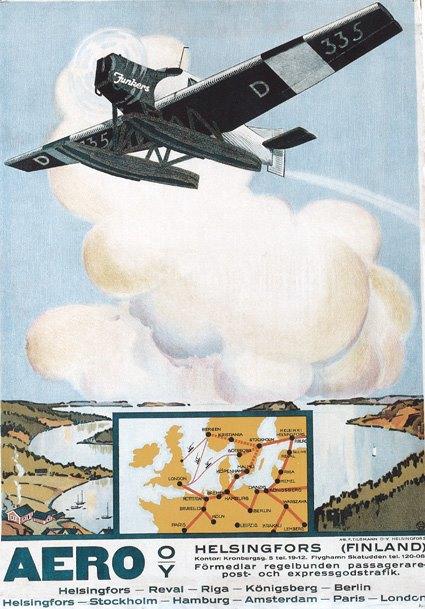 Aero OY (Finnair) poster (Finnair)(LR)