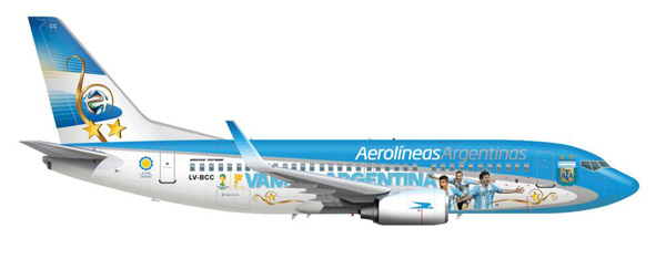 Aerolineas Argentinas 737-700 WL LV-CSI (14-Vamos Argentina)(Drawing)(AR)(LRW)