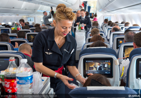 Air France-Airbus A350-900 Proving Flt Cabin (Airbus)(LRW)