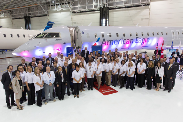 American Eagle-PSA (2nd) CRJ900 N547NN (13)(Delivery Ceremony) (Bombardier)(LRW)