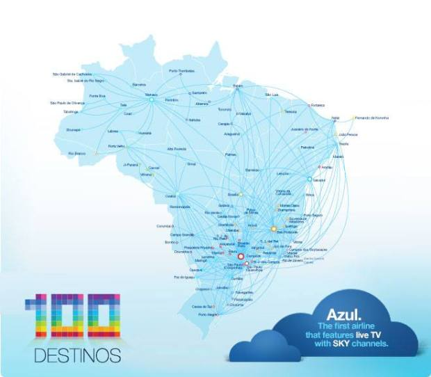 Azul 6.2014 Route Map