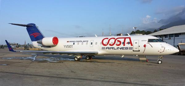 Costa (Venezuela) CRJ200 YV550T (14)(Grd) CCS (Air Costa)(LRW)