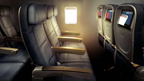 Delta Air Lines 757 Transcon Economy Comfort Seat