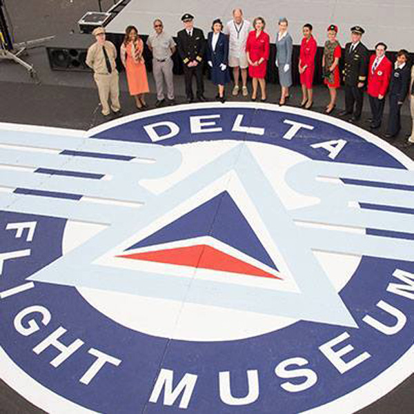 Delta Flight Museum logo on ground (Delta)(LRW)