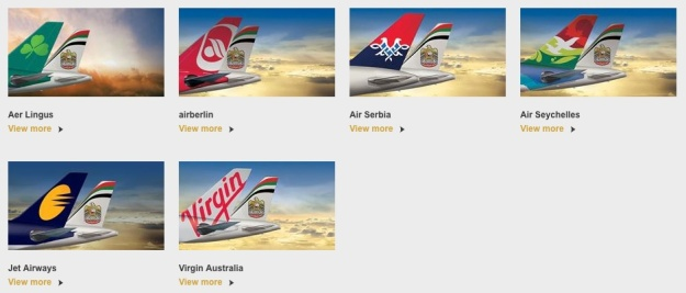 Etihad Equity Partner Airlines