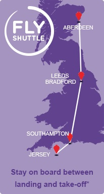 Flybe Fly Shuttle 6.2014 Route Map